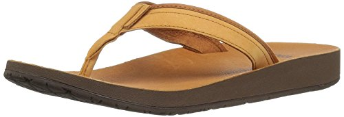 Teva Azure Flip Leather W's, Infradito Donna Beige (Tan)
