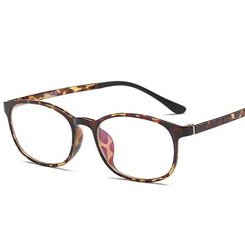 YMTP Myopie-Rahmen Für Frauen Brille Brille Brillengestell Optische Brillenfassungen Für Männer Brille, Leoparden-Print