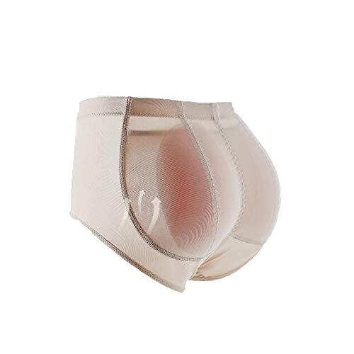 TIANMIAOTIAN Damen Body Shaping Slip, Damen 400 G/Paar - Tropfenförmiges Silikonpad - Zum Po-Raffen,L (Silikon Gepolsterte Höschen Kurze)