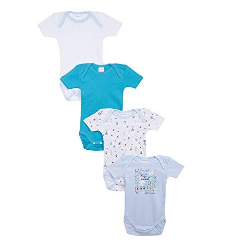 Absorba 6N60186-RA40, Body Lot de 4 , Bébé garçon - Bleu (Cornflower 40) - 12-18 mois...