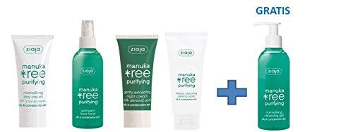 Ziaja Manuka Tree Gesichtspflege-Set für unreine Haut mit GRATIS WASCHGEL