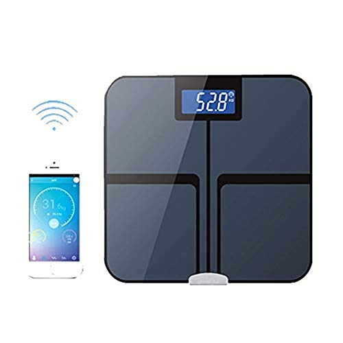 AZZ Bluetooth-Körperfettwaage, Digitale Körpergewichts-Personenwaage mit intelligenter BMI-Skala, Körperkompositionsmonitore mit Smartphone-App, beleuchtetes LCD-Großdisplay