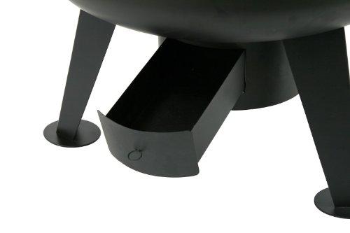 BBQ-TORO Schwenkgrill | Ø 64 cm | Holzkohle Grill mit Grillrost | Grillgalgen mit Kurbel | schwarz | Standgrill