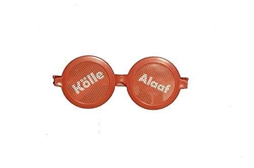 Unbekannt Brille Kölle Alaaf in rot/ weiß für Köln Kostüm und Faschingskostüm Zubehör