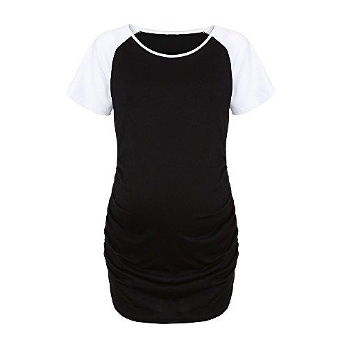 AMUSTER Damen Umstandskleid Damen Schwangerschafts-T-Shirt Nursing Maternity Damen Umstands-T-Shirt...