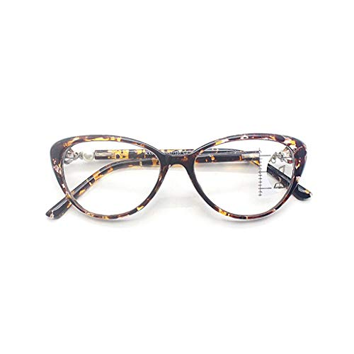 flyWANG Anti Blue Light Progressive Multifokale Lesebrille Retro Cat Eye Frame Nahsicht Dioptrien Brillen TR90