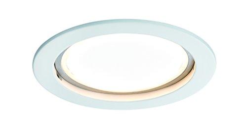 Preisvergleich Produktbild Einbauleuchte LED Coin satiniert rund 14W Weiß 1er-Set dimmbar IP44 spritzwassergeschützt