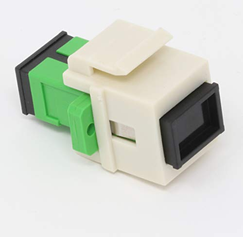 Faser Keystone-Koppler Jack SC Simplex Singlemodefasern APC SC Duplex Singlemode APC Light Almond -