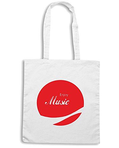 T-Shirtshock - Borsa Shopping ENJOY0067 Enjoy Music 2 Bianco