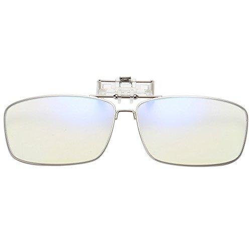 Computer di blocco della luce blu Clip per occhiali da lettura UV anti strain vetro METALLO Portatile rettangolare