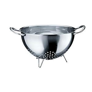 WMF Gourmet Seiher, Ø 24 cm, Sieb, Nudelsieb, Küchensieb, Cromargan Edelstahl, spülmaschinengeeignet