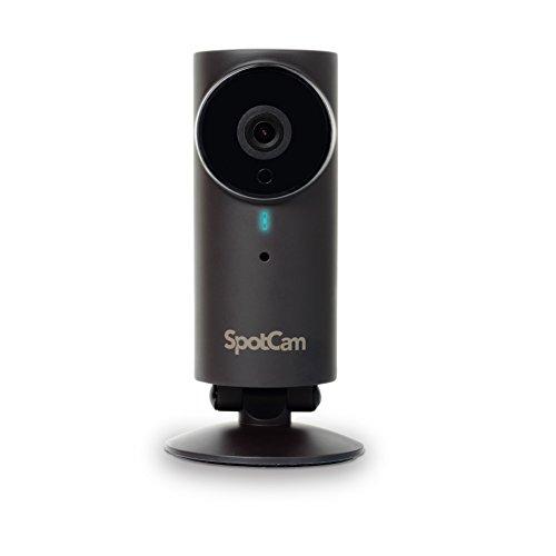 SpotCam WLAN Kamera für den Außenbereich I Videoüberwachung I Smart Home über IFTTT I Vernetzbar mit Amazon Alexa, etc. I Gratis 24h Cloud-Aufnahme I Nachtsichtfunktion I App I Schwarz Technics Home Audio