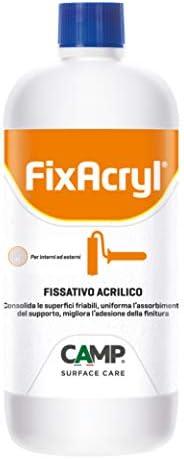 Camp FIXACRYL, Fissativo 100% acrilico isolante e consolidante, Per muri interni ed esterni, A base acqua