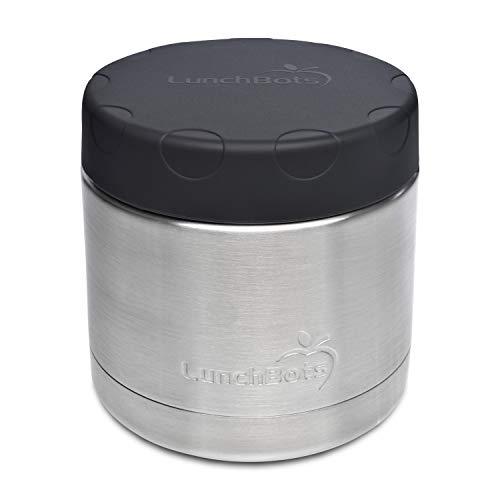 LunchBots Große Thermal 470 ml Edelstahl Schüssel – Isolierter Nahrungsmittelbehälter hält 6 Stunden lang heiß oder 12 Stunden lang kalt – Auslaufsicherer Suppenbehälter – Blau (Planetbox-lunch-box)