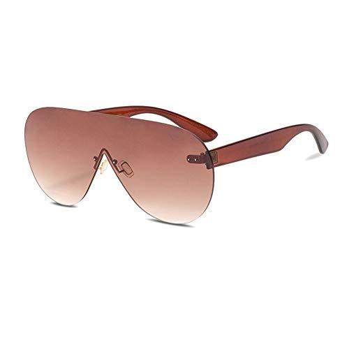 MIJIN Women es Sunglasses,2019 Neue große Box Sonnenbrille Europa und Amerika beigetreten Ozean-Stück-Mode-Trend Damen-Sonnenbrille, UV-Schutz 400 Gläser,A