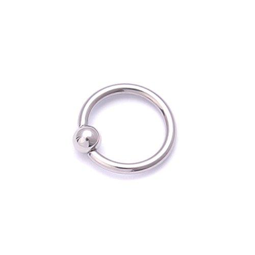 Chirurgischer Stahl Hoop Ring Ball Closure Piercing Lippe Ohr Nase Augenbrauen Universal, Silber (Hoop Lippe Ringe)