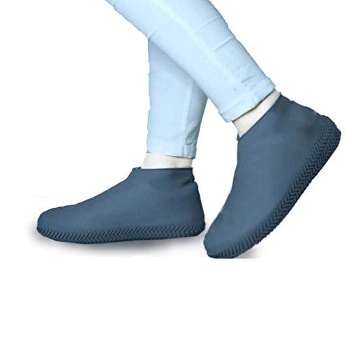Duanguoyan Regenstiefel- Silikonschuh Wasserdicht Rutschfeste verschleißfesten Regen Stiefel Männer Und Frauen Erwachsene Kinder Gummi Latex Schuhabdeckung (Farbe : Gray, größe : S) -