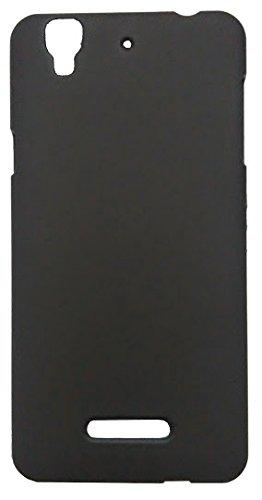 SD Luxury Design Matte Finish Slim Hard Back Cover Case for Micromax YU Yureka - Black