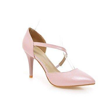 LvYuan Da donna-Sandali-Tempo libero Ufficio e lavoro Casual-Altro-A stiletto-PU (Poliuretano)-Rosa Bianco Pink
