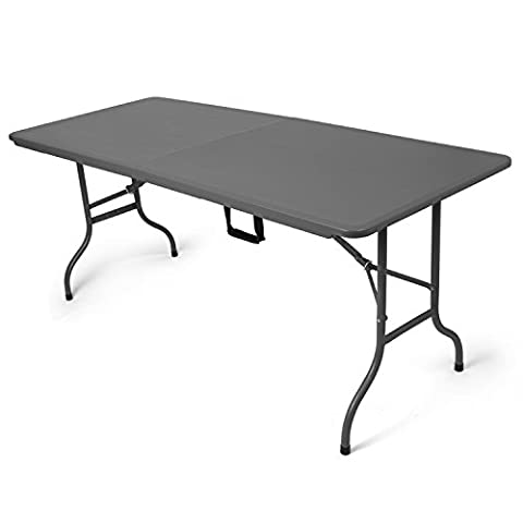 Folding garden table in anthracite, well suited as a table