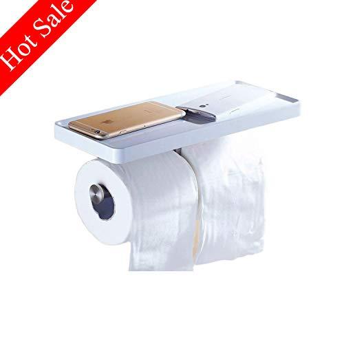 Doppel Toilettenpapierhalter WC-Papierhalter Rollenhalter Papierrollenhalter Wandmontage Weiß