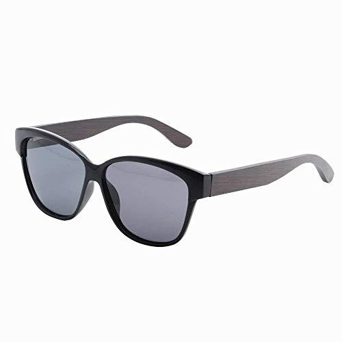 MXHSX Polarized UV400 Schutzgläser Handmade Bamboo Wood Sonnenbrille Universal Sonnenbrille für Mann und Frau Optional Fashion Brille (Farbe: Tee),Schwarz