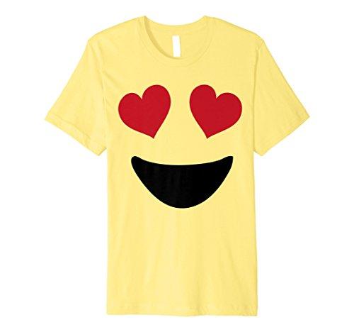Emoji-T Shirt Halloween Kostüm Herz Augen und einem Big Smile (Halloween-geschenke Lehrer Für Günstige)