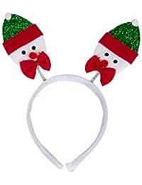 Weihnachtsgeweih Haarband Geweih Haarreif 2 Schneemann Santa Claus X69