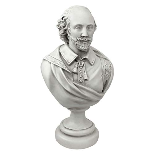 Bronze Effet William Shakespeare buste SCULPTURE statue Bureau Décoration