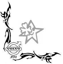 2x VOLVO FH No90 Tribal Seitenscheibe ca. 27 cm Aufkleber LKW Truck Tuning Trucker Sticker Decal von MYROCKSHIRT