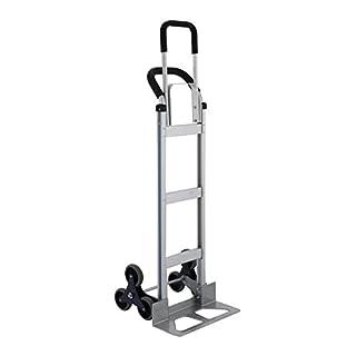 HuSuper Sackkarre Treppenrutsche Aluminium Transportkarre Stapelkarre Handkarre Karre 250KG Handkarren Faltbar (250kg)