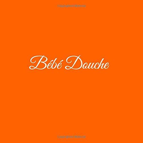 Bébé Douche .........: Livre d'or Bébé Douche Baby Shower pour fête de naissance 21 x 21 cm Accessoires decoration idee cadeau fête de naissance bébé Couverture Orange par S. Livres Orange