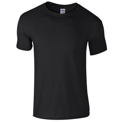 Gildan Soft-Style Herren T-Shirt, Kurzarm, Rundhalsausschnitt Saphir