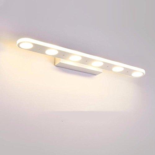 PEIWENIN-LED Bad Spiegel Lampen wasserdicht Nebel Bad Wand Lampe Bad einfache Mode Make-up Lichter Spiegel vorne Licht, 6-Licht (Sechs Licht-spiegel-eitelkeit-lampe)