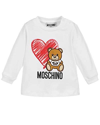 Moschino t-shirt manica lunga bambina, 3 anni (98cm), bianco