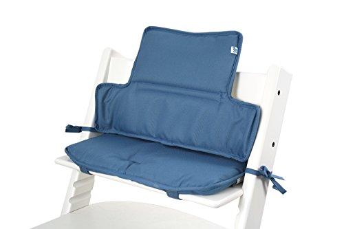 Tinydo Hochstuhl-Sitzkissen+ optimal für Stokke Tripp-Trapp und viele anderen Treppenhochstühle [himmelblau] - 2teilg. Set mit Memory-Schaum-Dämpfung - Sitzverkleinerer-Auflage für Babystühle!