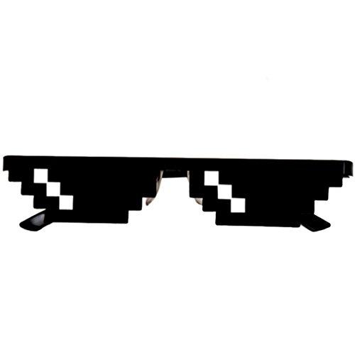 Neuheit Sonnenbrille, Gusspower Thug life Brille 8 Bit Pixel Deal with it Sonnenbrille Unisex Schutzbrillen Eyewear Spielzeug (1 Mosaik)