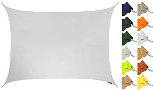 Kookaburra résistant à l'eau Voile d'ombrage 3 m x 2 m rectangulaire blanc polaire