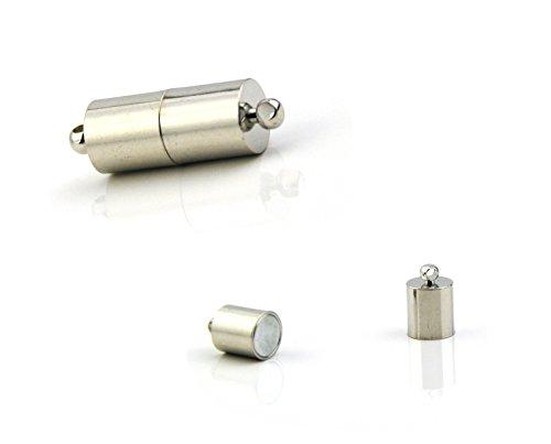 cilindrica forte magnetico chiusure placcato oro bianco
