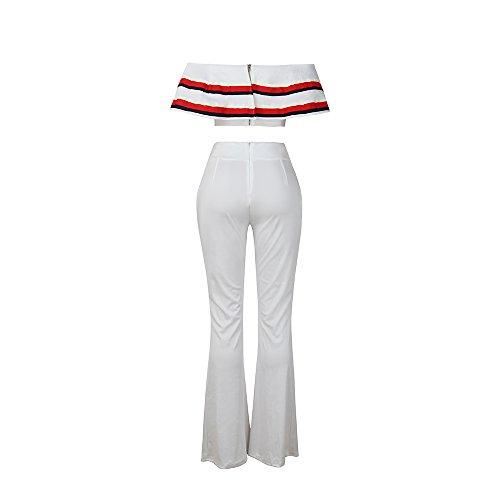 LKOUS - Robe - Femme Blanc