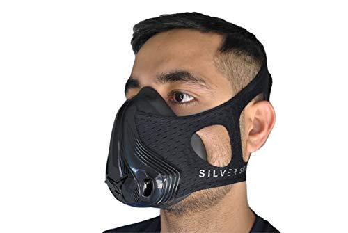 La NUEVA Training Mask| Máscara de Simulación de Elevación a Gran Altitud Definitiva | Entrenamiento Físico | 24 Niveles de Resistencia | Running, Fútbol, MMA | [+ Funda de Transporte Gratis] S