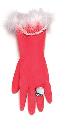 Preisvergleich Produktbild Spülhandschuhe in rot und mit Perlen