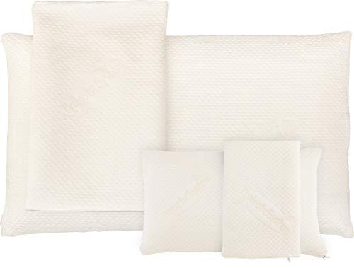 MABAMAHO 2-TLG Mix-Spar-Set: 1x (80x40x15cm) Probiotic Ag+ und 1x (40x24x12cm) TRAVEL Nackenstützkissen aus Gelschaum, Orthopädisch & Allergikerfreundlich