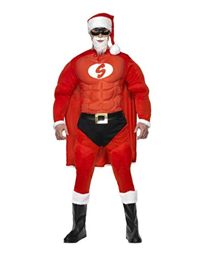 Horror-Shop Super Santa Claus Kostüm L (Super Santa Kostüm)