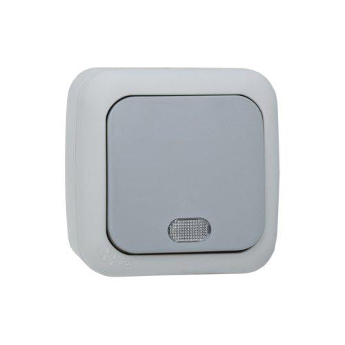 Aufputz Schalter Feuchtraum IP54 AP Taster Schließer beleuchtet