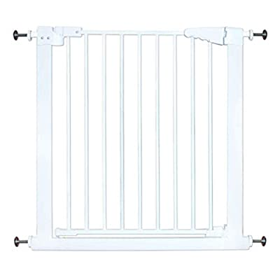 Pressure Mounted Baby Gates for Stairs Doorway Hall Extra Wide Extenders 61-238cm Wide Cat Dog Door, White Metal (Size : Width 222-130cm)