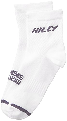 HILLY Mono Skin Lite Fußkettchen Socke Unisex S weiß/grau (Socken Fußkettchen Grau)