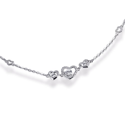 Goldmaid Damen-Armband 925 Sterlingsilber rhodiniert  13 weiße Zirkonia