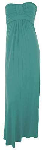 Chocolate Pickle ® Femmes bandeau avec Boob Noeud Maxi Dress 36-42 Teal