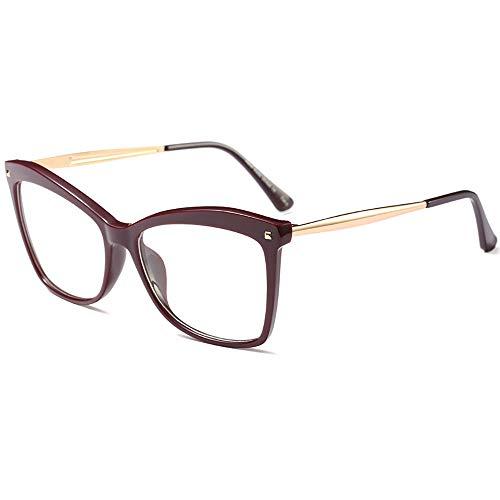 Mode Fett Rahmen Metall Tempel Horn umrandet Saubere Linse Brillen -